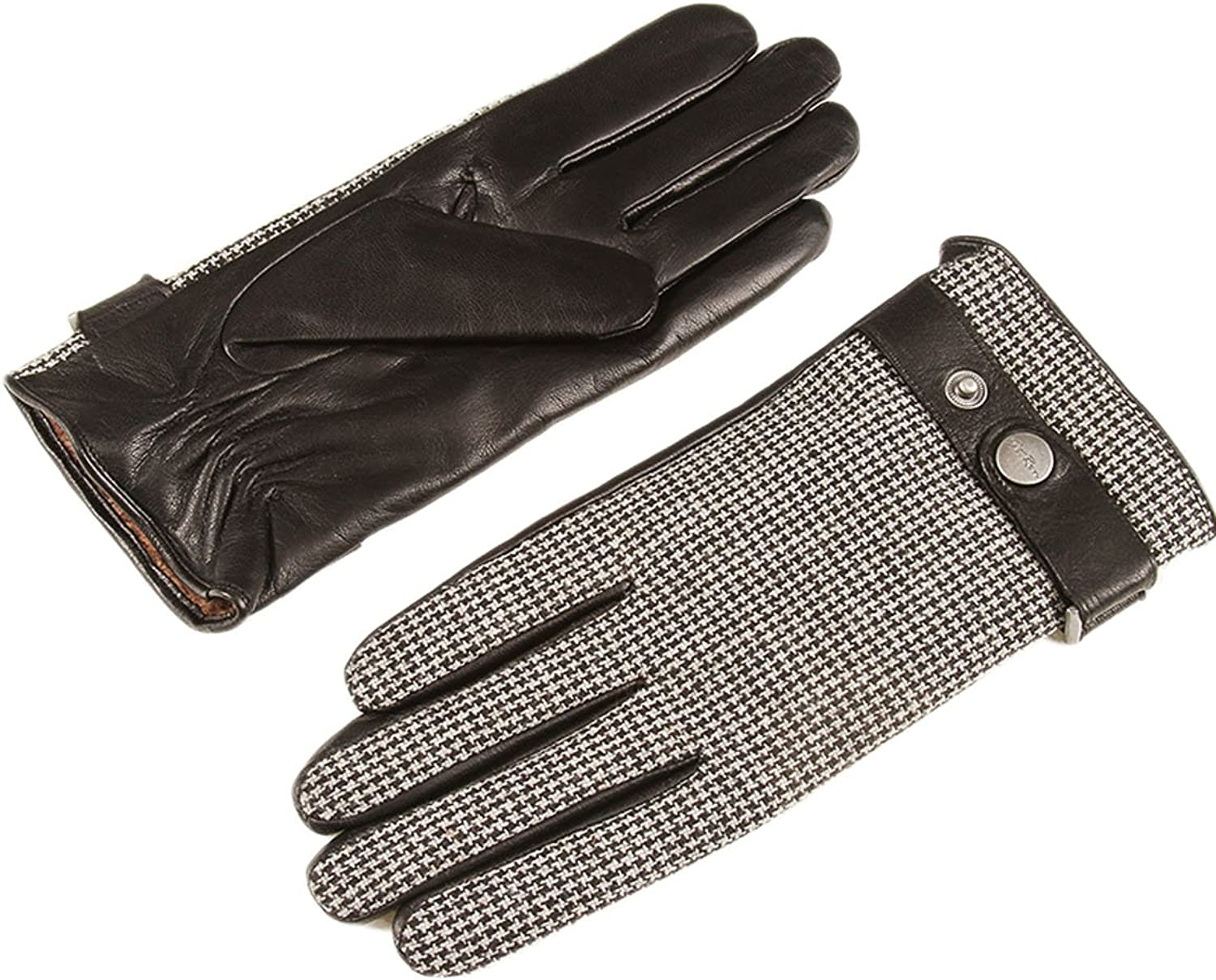 Only Faith Mens Winter Sheepskin Leather Driving Gloves