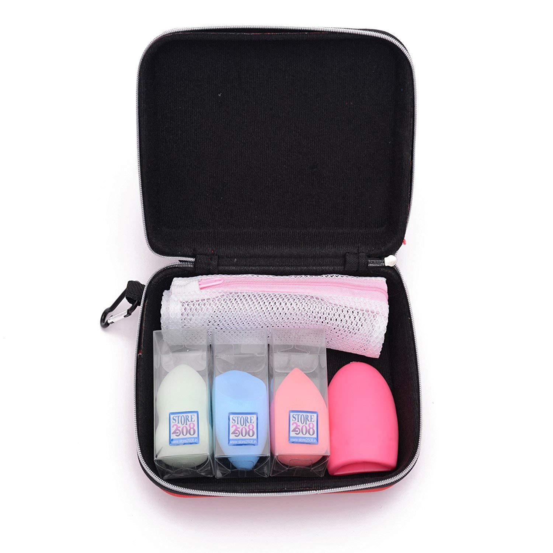 Store2508™ Makeup Beauty Blender Puff Sponge Set with 3 Blenders, Drying  Bag, Brush Egg & Storage Box