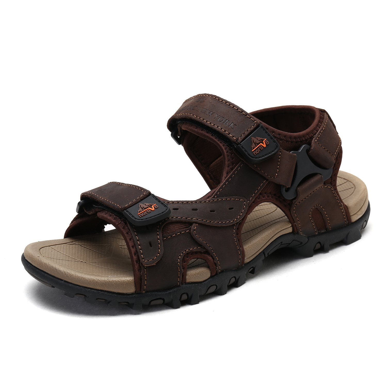 BRUNO MARC NEW YORK Bruno Marc Men's Maui-3 Brown Outdoor Fisherman Sandals Size 10 M US by BRUNO MARC NEW YORK