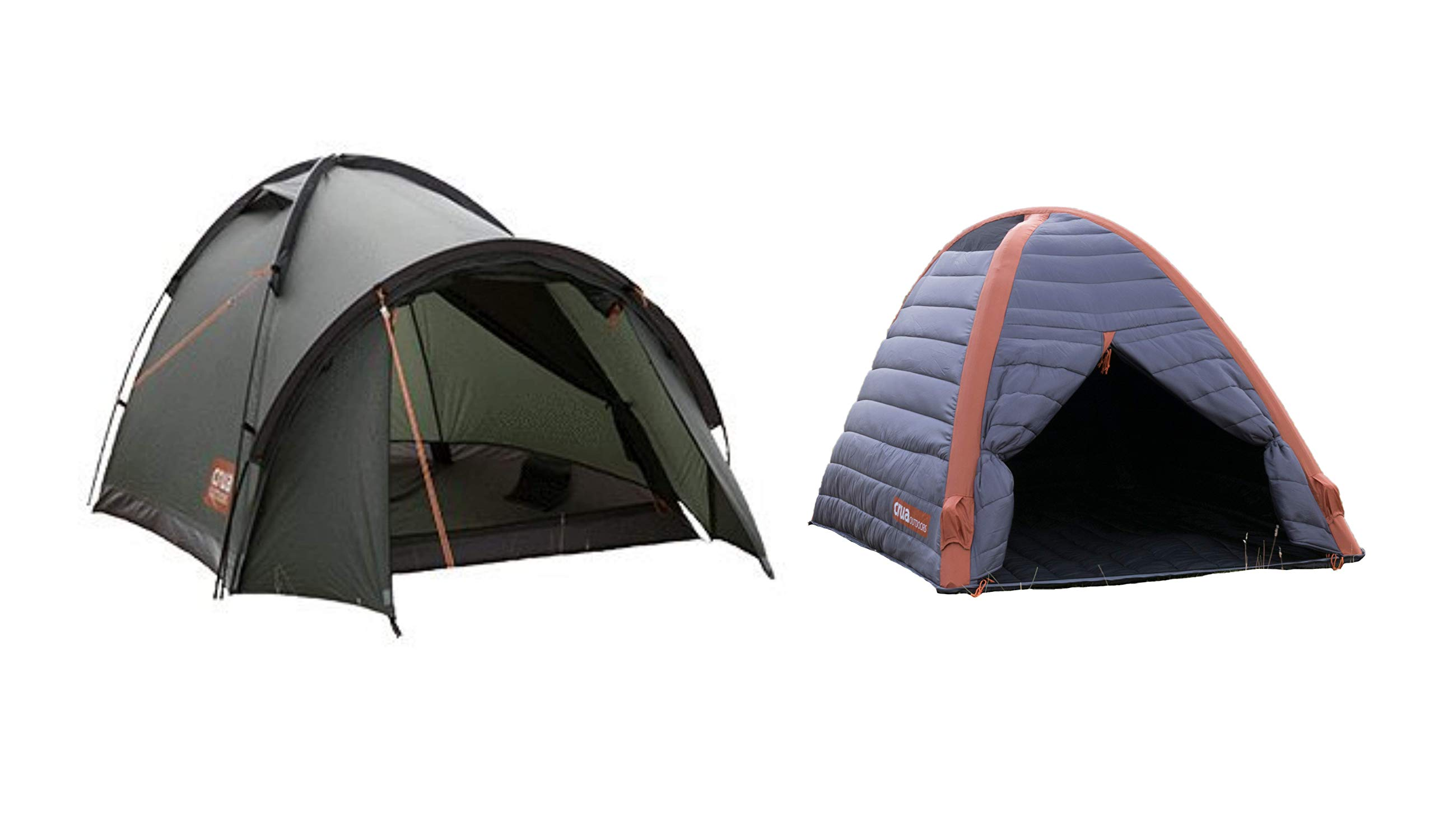 Crua Duo Cocoon Combo Tent: Waterproof Hiking Camping Durable, Breathable Insulated Expedition Setup, 2 Person Tent with Aluminum/Air Frame (Combo)