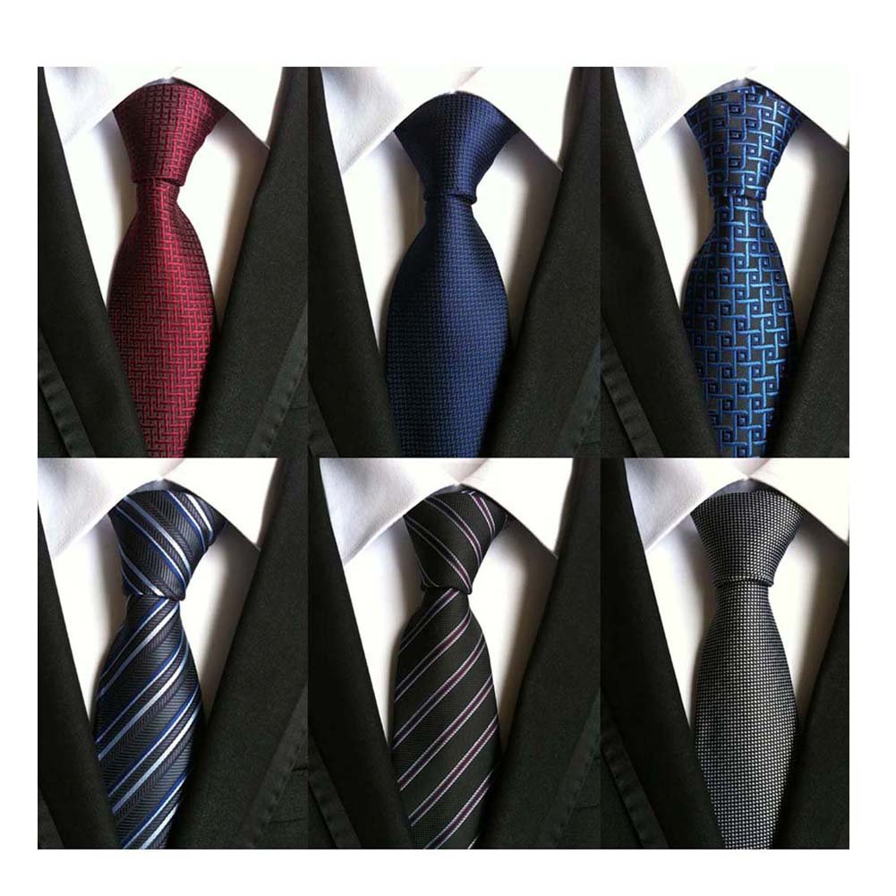 WeiShang Lot 6 PCS Classic Men's 100% Silk Tie Necktie Woven JACQUARD Neck Ties (Style 14) by WeiShang