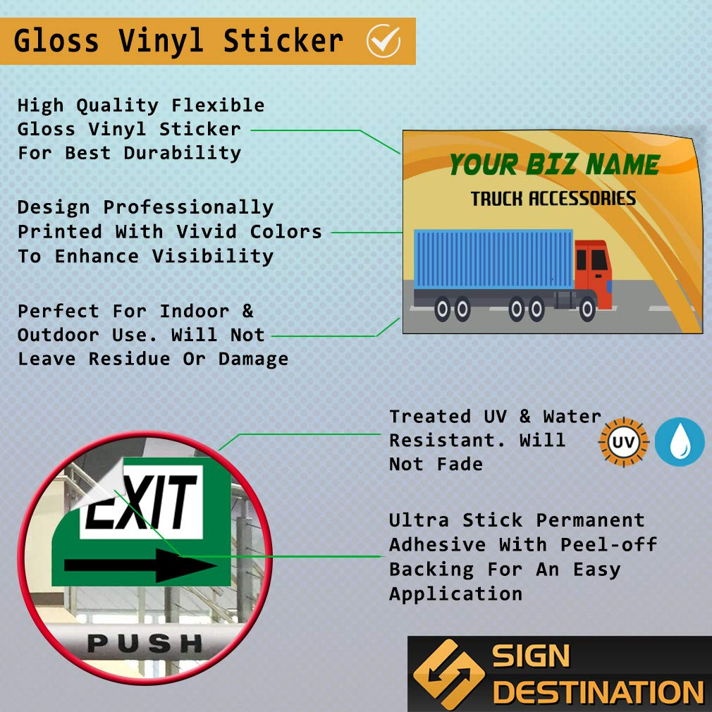 Custom Door Decals Vinyl Stickers Multiple Sizes Business Name Truck Accessories Business Rv Outdoor Luggage /& Bumper Stickers for Cars Orange 27X18Inches Set of 5