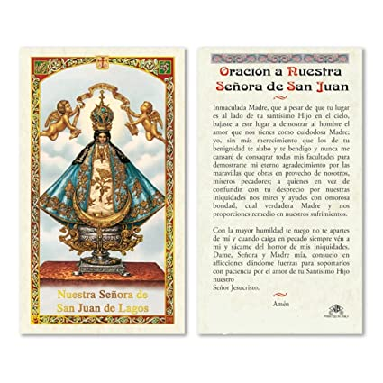 Amazon.com: Gifts by Lulee, LLC Oracion a Nuestra Senora de ...