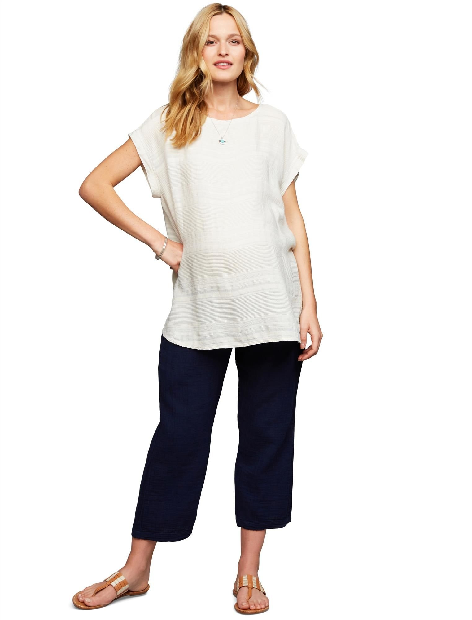 A Pea in the Pod Under Belly Gauze Boot Cut Maternity Pants