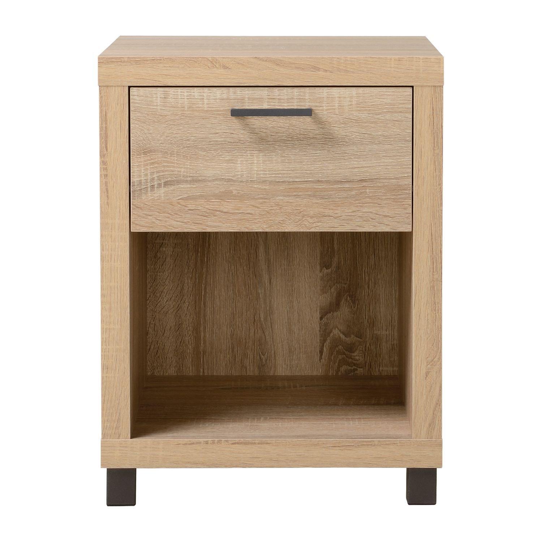 Homestar 1 Drawer Nightstand Driftwood finish