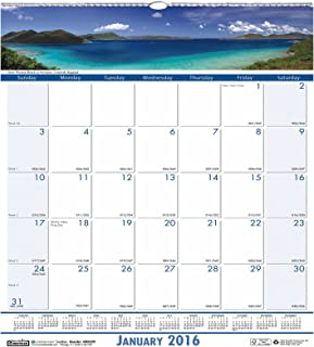 "product image for House of Doolittle 2016 Monthly Wall Calendar, 12"" x 12"", Earthscapes Coastlines (HOD328-16)"
