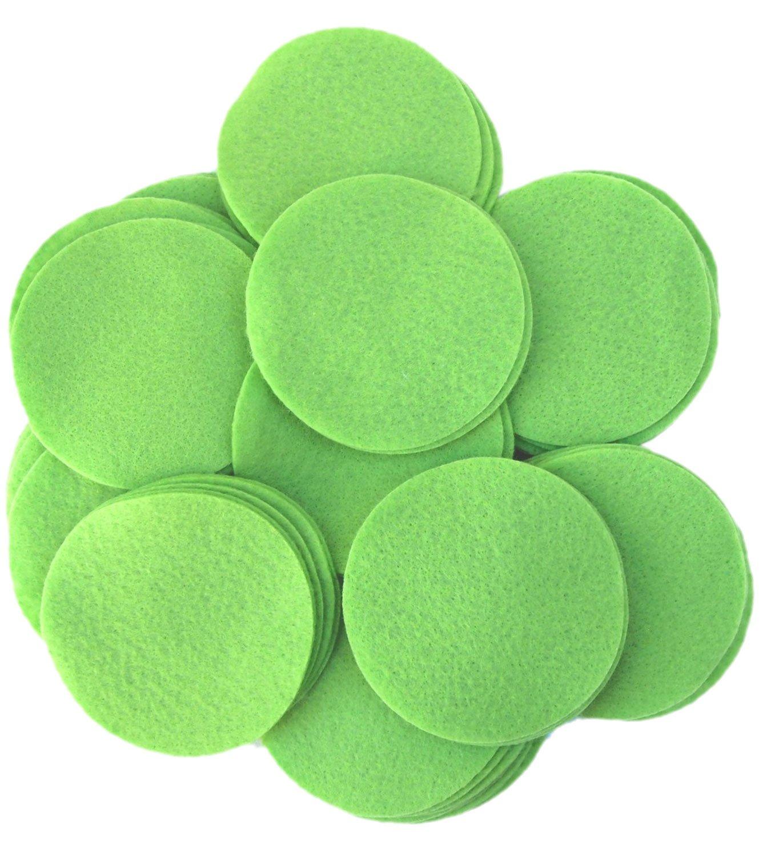 Playfully Ever After 4 Inch Light Green 19pc Felt Circles