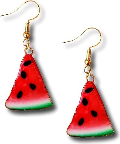 Sparkly Watermelon Earrings