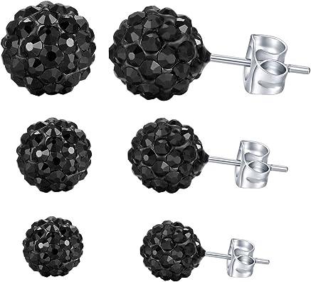 Amazon.com: Yan & LEI Sparkle Ball - Pendientes de tuerca ...