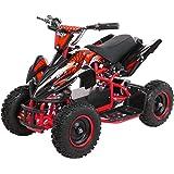 Rot 800W 36V Eco Python Kinderquad Quad Mini Atv Pocketbike Dirt Nitro Motors