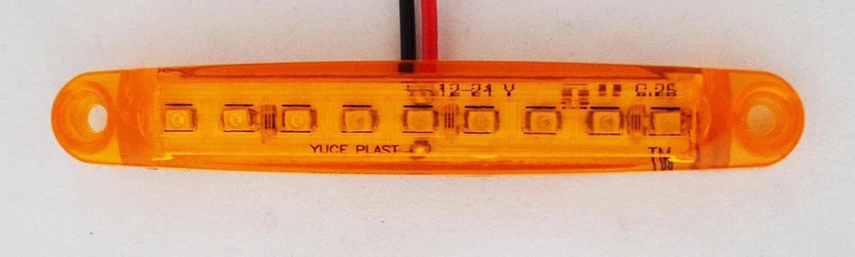 10/x 24/V 9/LED c/ôt/é Outline Orange Ambre Ch/âssis de camion remorque benne caravane Bus Feux de gabarit