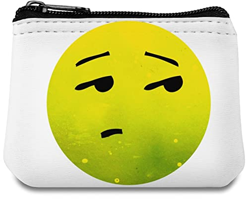 Eyeroll Emoji Monedero de neopreno