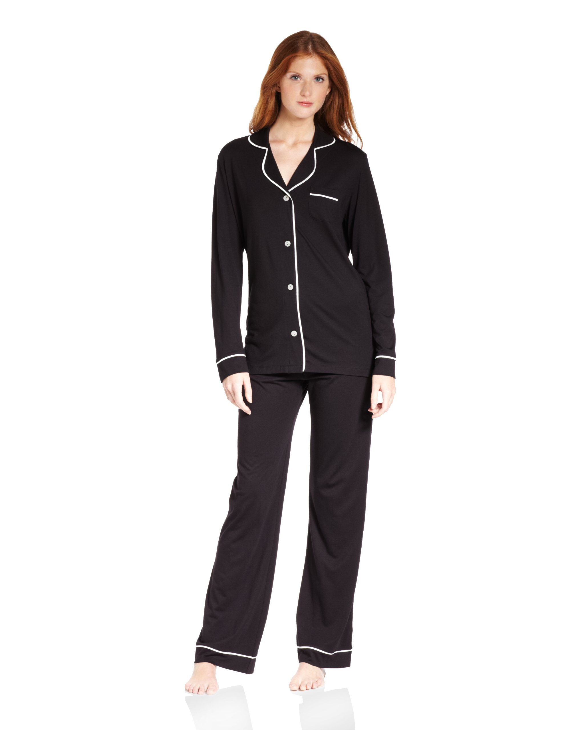 Cosabella Women's Amore Pajama Set, Black/Ivory, Small by Cosabella