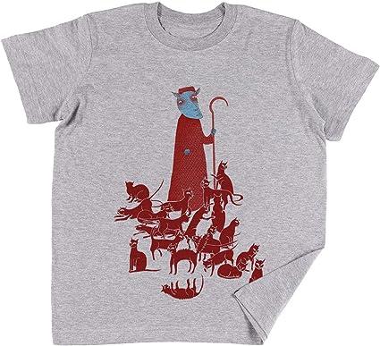 Vendax Pastoreo Gatos Niños Chicos Chicas Unisexo Camiseta Gris ...