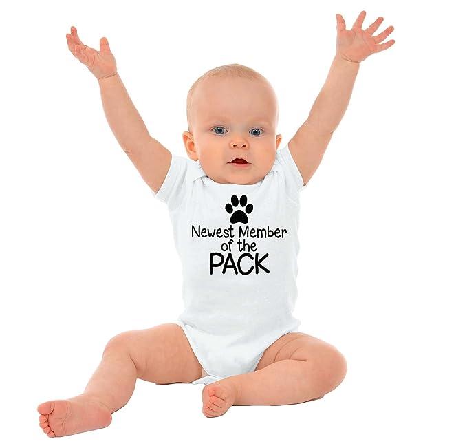 Brisco Brands New Member Pack Funny Ironic Pets Cute Newborn Baby Romper Bodysuit