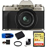 Fujifilm X-T200 Mirrorless Digital Camera with 15-45mm Lens Bundle: Includes