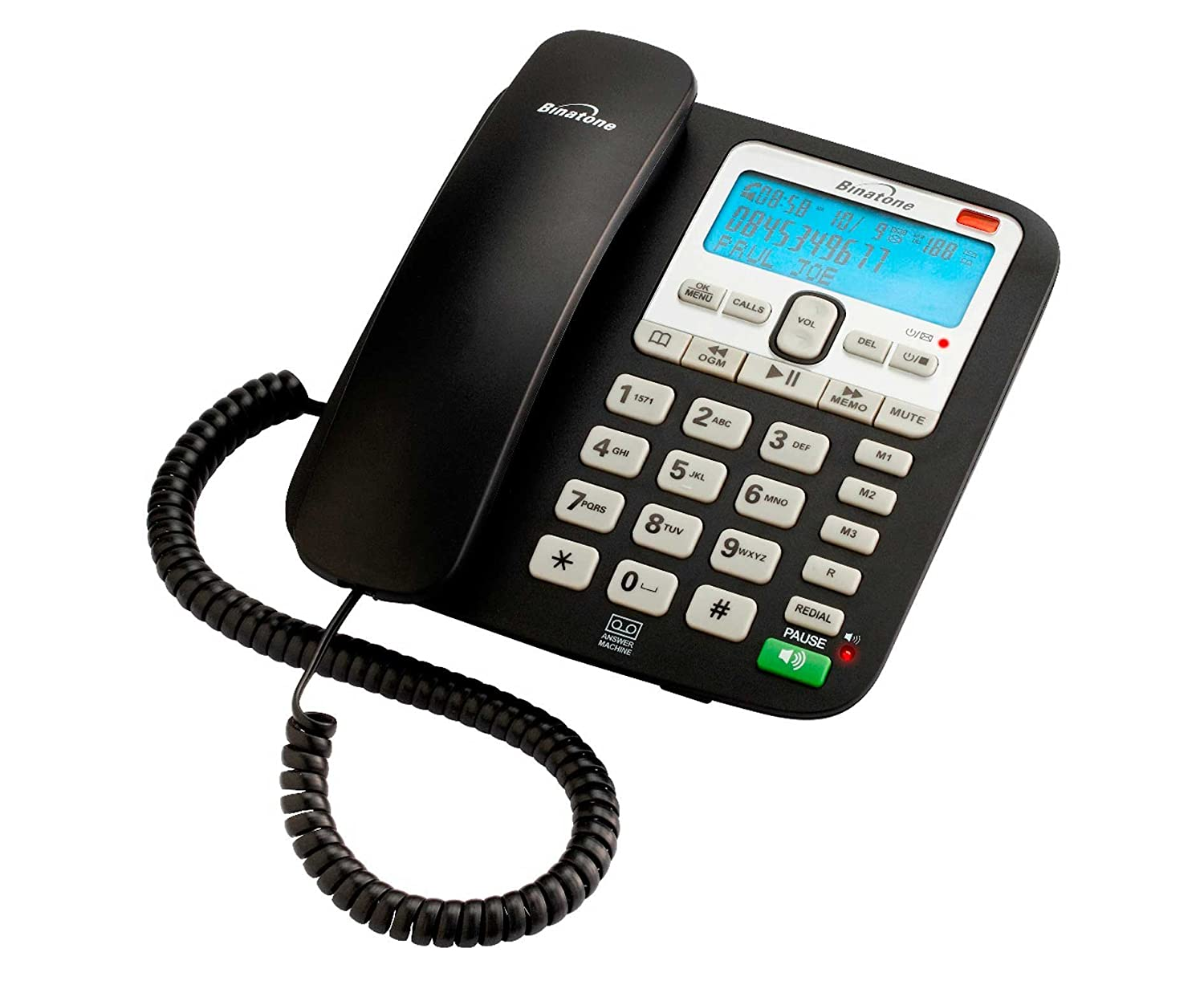 Binatone idect prism twin cordless phone with answering: amazon. Co.