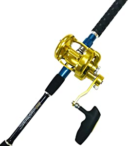EatMyTackle Big Daddy Saltwater Jigging Rod and Reel Combo