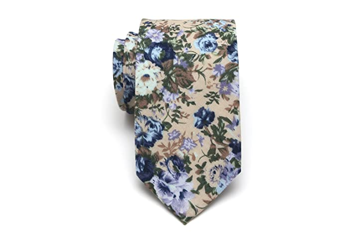 a138acae48e5 Image Unavailable. Image not available for. Color: Mens Tie Blue Floral ...