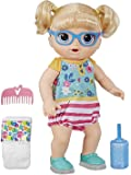 Baby Alive Step 'N Giggle Baby Blonde Hair Doll with Light-Up Shoes, Responds with 25+ Sounds & Phrases, Drinks & Wets…