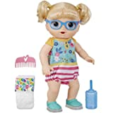 Baby Alive Step 'N Giggle Baby Blonde Hair Doll with Light-Up Shoes, Responds with 25+ Sounds & Phrases, Drinks & Wets, Toy f