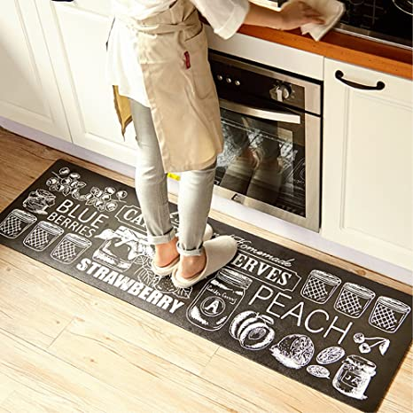 Ustide Classic Anti Fatigue Kitchen Comfort Chef Floor Mat 17 7x70 9 Linen Cardinal Stain Resistant Surface With 1 4cm Thickness Gel Core For