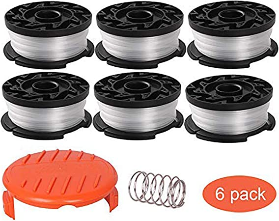 Thten Af 100 Replacement Spools For Black Decker Gh900 Gh600 Lst522 Lcc140 String Trimmer Weed Eater Refills 30ft 0 065 Auto Feed Spool 8 Pack 6 Replacement Spool 1 Trimmer Cap 1 Spring Amazon Ca Patio Lawn