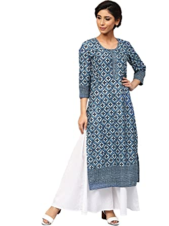 25a5f1dfda Amayra Women's Cotton Straight Kurti: Amazon.in: Clothing & Accessories