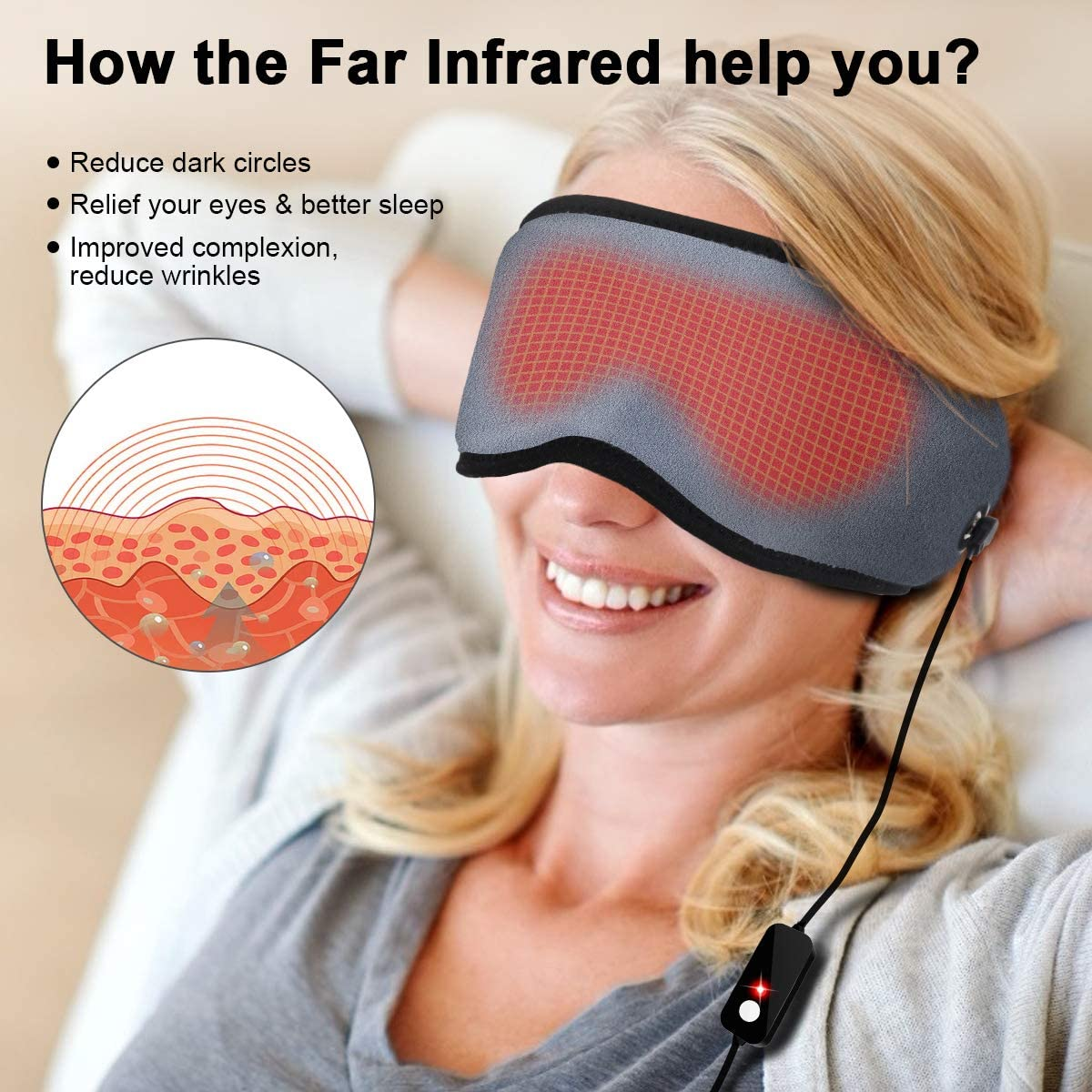 NEW GNM Physical Therapy Eye Mask HAB-068H Heating Pad Infared Therapy