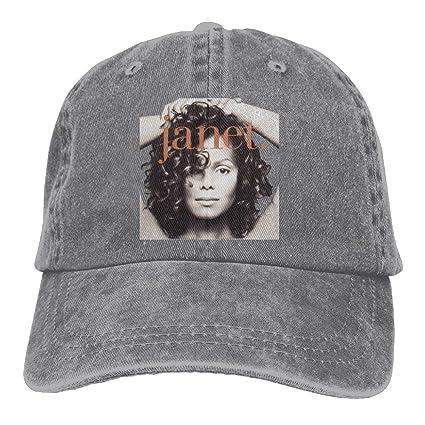 Ulongpoq Unisex Janet Jackson Janet Cotton Baseball Cap Washed Dyed Ball  Dad Caps Hats Adjustable Ash b8f5e1763e7