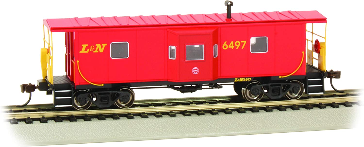 Bachmann Trains HO Scale Bay Window Caboose with Roof Walk L/&N #6497