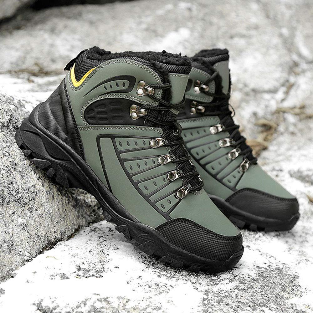 Tlgf Hoch Stiefel Steigende Wanderstiefel, Winter Schnee Stiefel Hoch Warme Herren Wasserdichte Schuhe Voll Pelzgefüttert, Rutschfeste 894d63