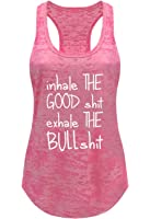 Tough Cookie's Women's Yoga Burnout Inhale and Exhale Tank Top