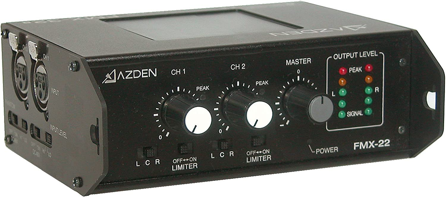 2 Azden FMX-22 Channel Portable Field Mixer XLR Inputs 71Dea17N-3LSL1500_