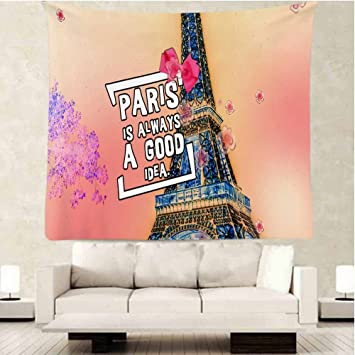 Paris Eiffel Tower Tapestry Wall Decor By Ofloral,Paris Is Always A Good  Idea Love
