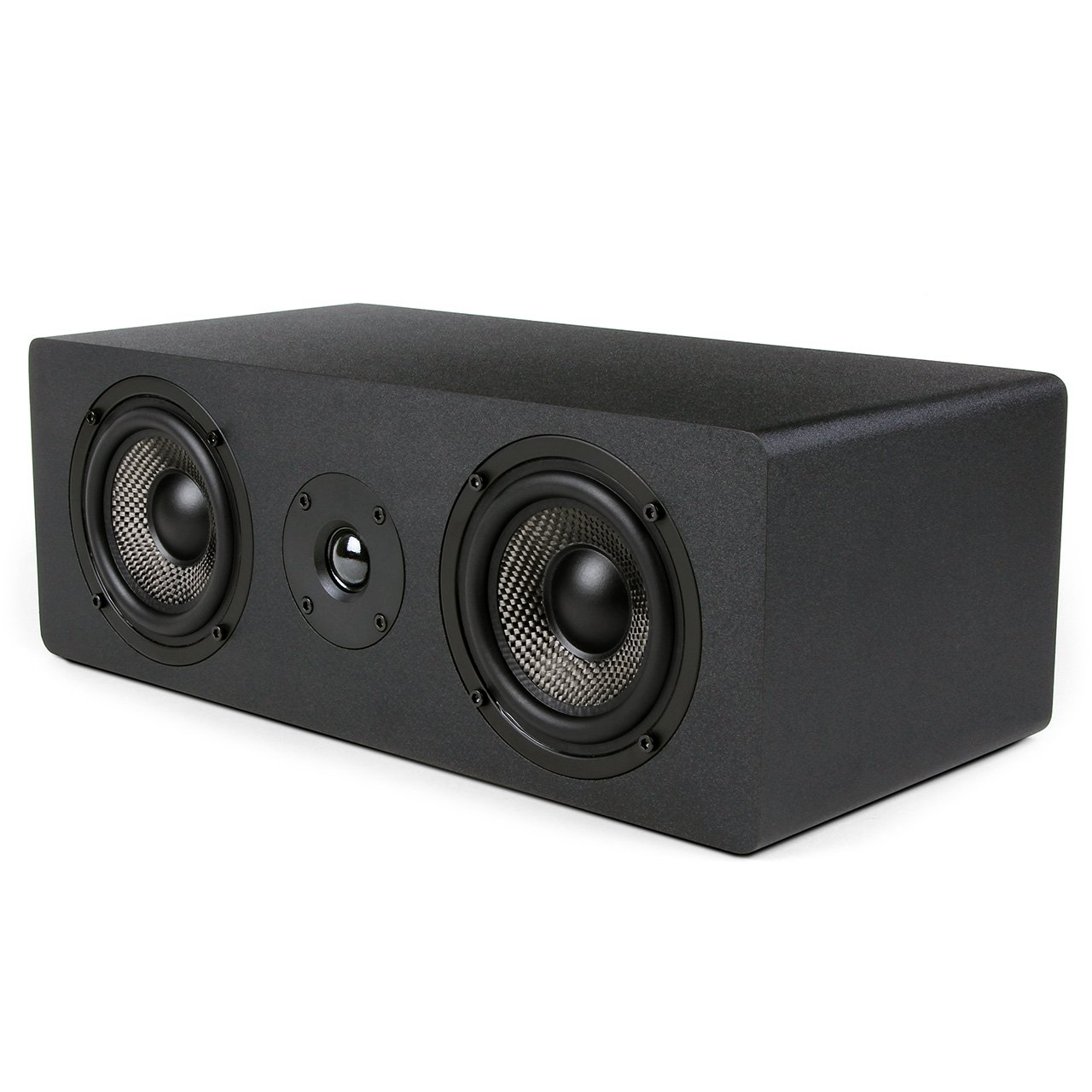 Micca MB42X-C Center Channel Speaker with Dual 4-Inch Carbon Fiber Woofer and Silk Dome Tweeter, Black Team Wise Holdings Limited