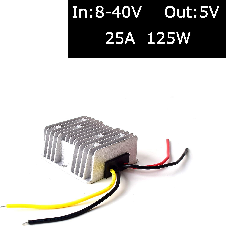 Dc 12v 24v 36v Auf 5v Spannungswandler 25a 125w Lkw Elektronik