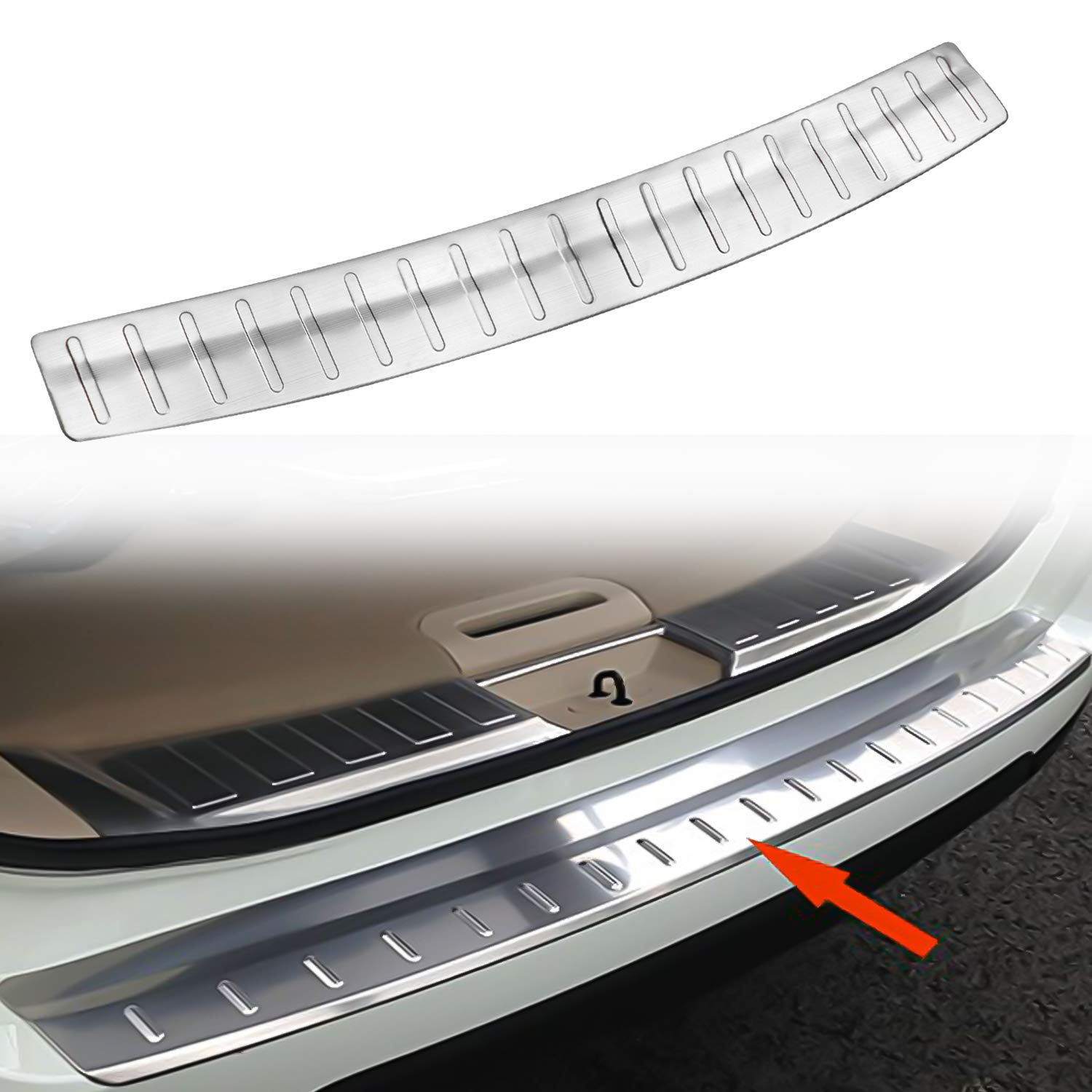 Stainless Steel Outer Rear Bumper Protector Plate Cover for Nissan X-Trail Rogue 2014 2015 2016 2017 Opall