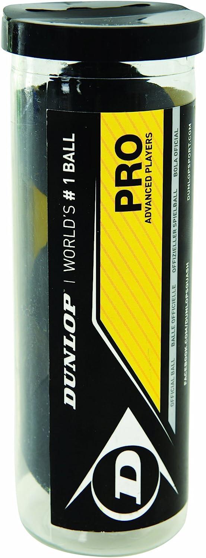 tubo de pelotas para squash Dunlop Sports Pro XX x 3