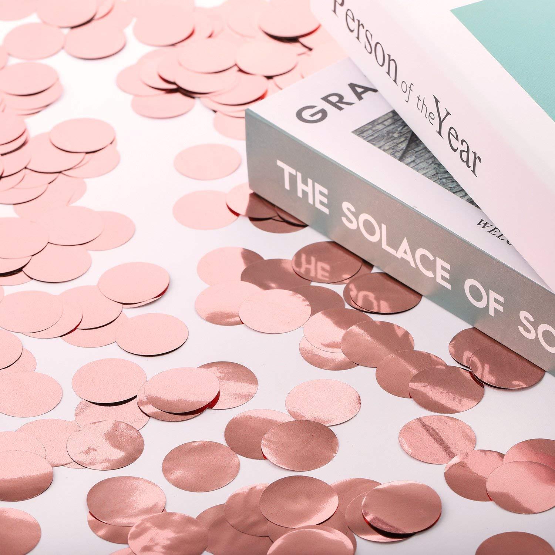 compleanni 2,5 cm 60 grams Coriandoli di carta a forma di cerchio per matrimoni colori misti anniversari vacanze Whaline