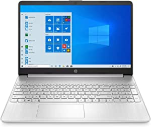 Newest HP 15.6inch Laptop, Intel Dual-Core i3-1005G1 Processor Up to 3.40 GHz, 4GB DDR4 RAM, 128GB SSD, HDMI, Bluetooth, Win 10-Silver (Renewed)