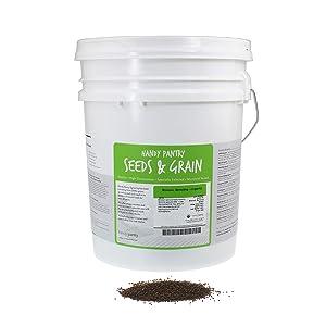 Organic Broccoli Sprouting Seeds by Handy Pantry | 30 Pound Reusable Bucket | Bulk Non-GMO Broccoli Sprouts Seeds, Contain Sulforaphane