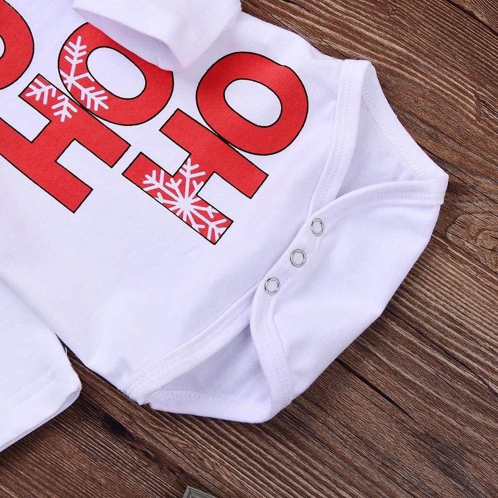 ❤ Conjunto Mameluco para bebé otoño Invierno, Navidad recién Nacido bebé niño niña Mameluco Tops + Pantalones Traje de Ciervos de Navidad Conjunto ...
