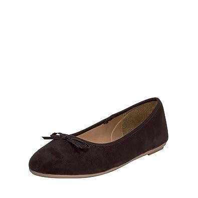 promo code 88625 edc23 Fitters Footwear That Fits Damen Ballerina Helen Microfibre modische Basic  Ballerinas mit Schleife (EU,)