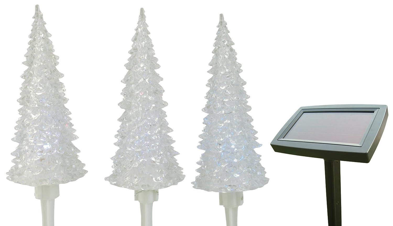 moonrays 96953 solar powered plastic color changing tree path lights landscape path lights amazoncom - Christmas Tree Pathway Lights
