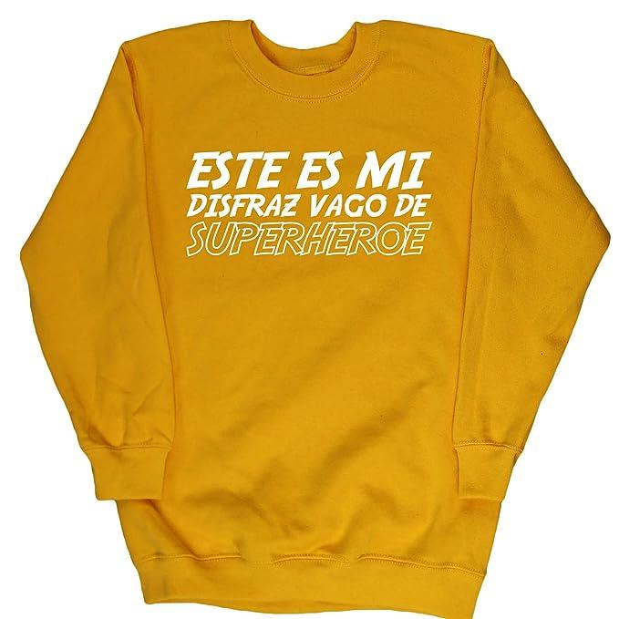 HippoWarehouse Este es mi disfraz Vago de Superhéroe jersey sudadera suéter derportiva unisex niños niñas: Amazon.es: Ropa y accesorios