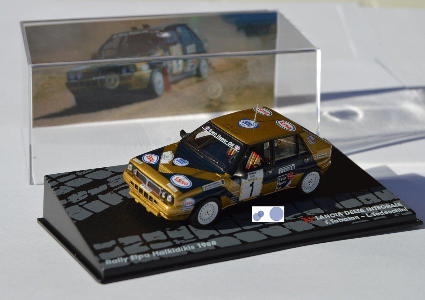 Coches Rally IXO 1:43 1/43 Lancia Delta Integrale F. Tabaton/L. Tedeschini RAL083: Amazon.es: Juguetes y juegos