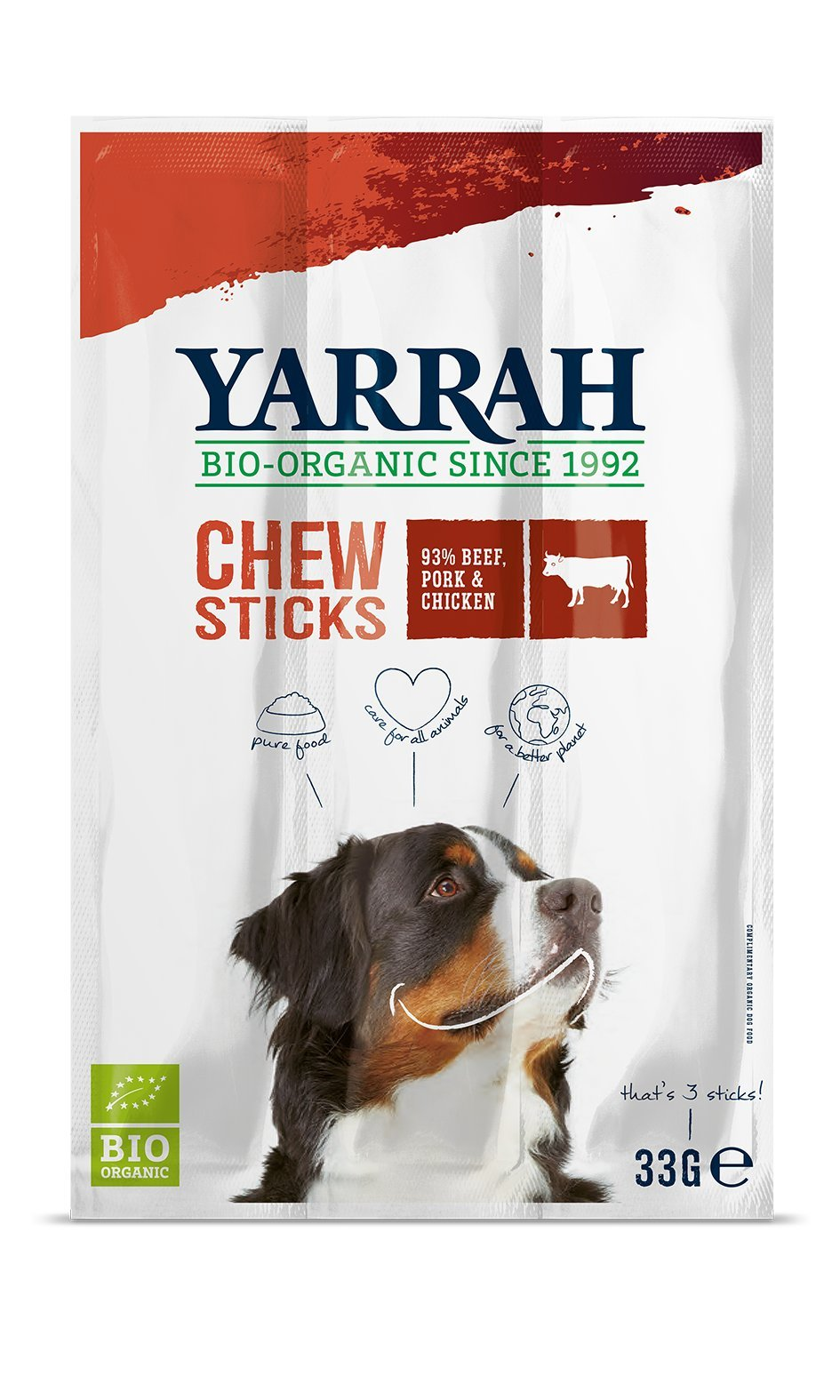 (4 PACK) - Yarrah Dog Chewsticks With Seaweed & Spirulina | 33g | 4 PACK - SUPER SAVER - SAVE MONEY