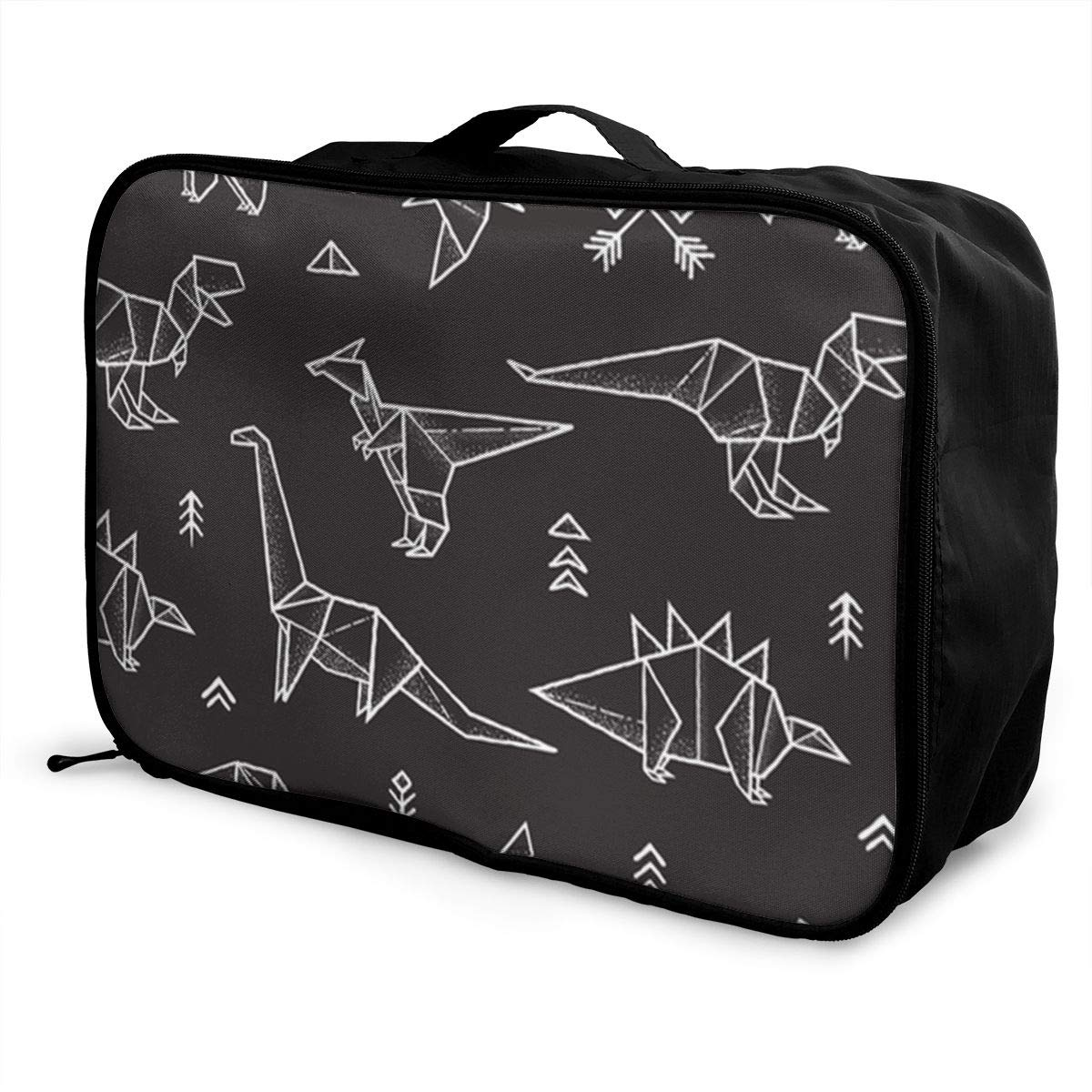 ADGAI Toy Jurassic Dinosaur Canvas Travel Weekender Bag,Fashion Custom Lightweight Large Capacity Portable Luggage Bag,Suitcase Trolley Bag