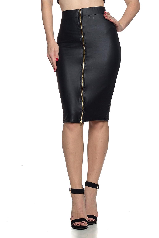 300edd05377 Cemi Ceri Women's J2 Love Faux Leather Zip Up Pencil Skirt, X-Small, Black:  Amazon.ca: Clothing & Accessories